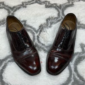 Johnston & Murphy Burgundy Cap-Toe Oxfords 12 D